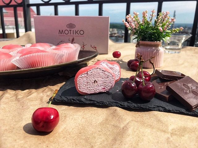 новый вкус Crispy cherry - MOTIKO японский замороженый десерт